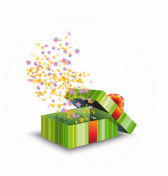 A gift box isolated on white vector