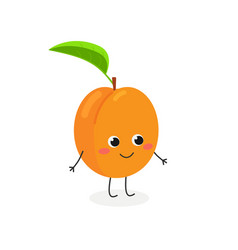 adorable apricot character vector image