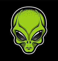 Alien face tee stump humanoid martian head print vector