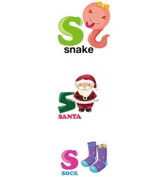Alphabet letter - S vector