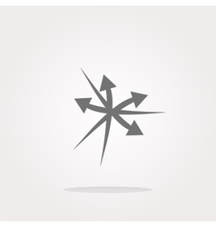 arrow set web icon button isolated on vector image