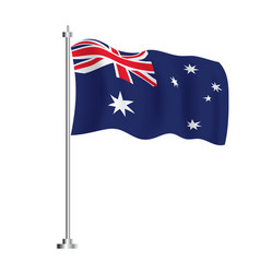 australian flag isolated wave flag australia vector image