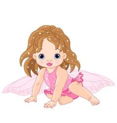Baby fairy vector