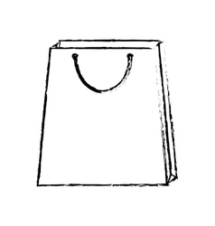Bag gift present sketch outline vector