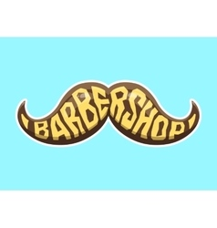 Barbershop logo Cartoon vector image