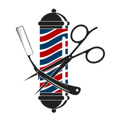 barbershop silhouettes with a tool vector image