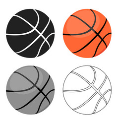 basketball icon cartoon single sport icon from vector image