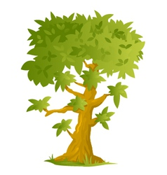 Big Cartoon Tree vector image