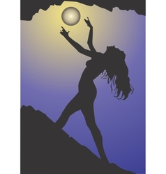 Black magic woman vector image