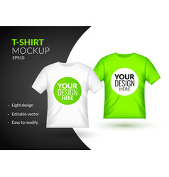 blank t-shirt template clothing fashion white and vector image