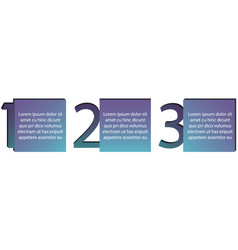 business infographic diagram with three steps vector image