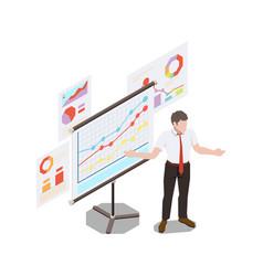 Business presentation skill composition vector