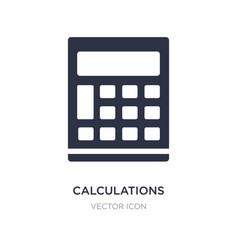 Calculations icon on white background simple vector