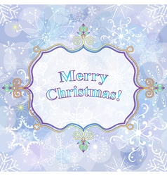 Christmas gentle greeting card vector image