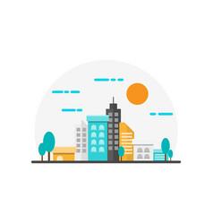 City landscape flat design vector