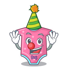 clown baby wool clothes isolated on mascot vector image