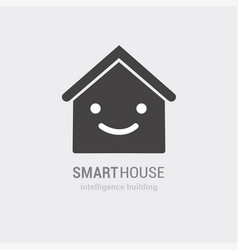 conceptual vision of smart house icon vector image