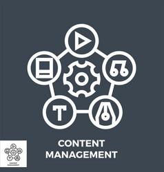 Content management line icon vector