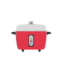 cooker rice electric icon kitchen vector image