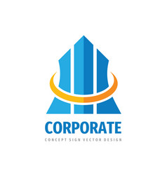Corporate business logo template design finance vector