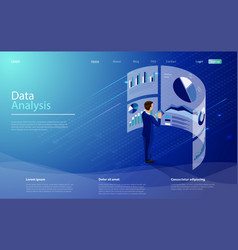 Data analysis concept character is standing vector