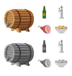 design pub and bar icon set pub and vector image