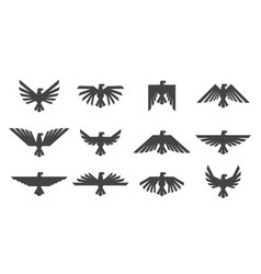 eagles graphic element template for logo or icons vector image