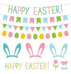Easter design elements set vector