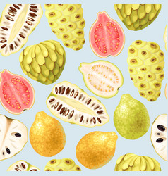 exotic fruits seamless vector image