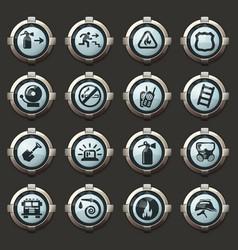Fire-brigade icon set vector