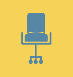 Flat icon office chair seat vector
