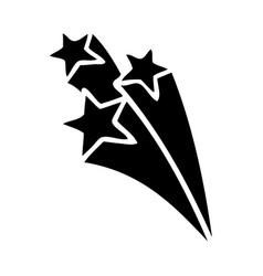 Flat symbol shooting stars vector
