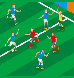 football isometric composition vector image
