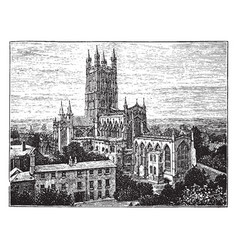 Gloucester cathedral church style of gothic vector