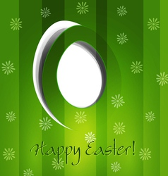 green background with Easter egg vector image