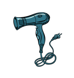 Hairdryer power tool hair care vector