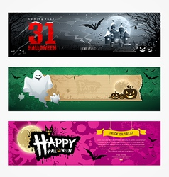 Happy Halloween banner collections design vector image