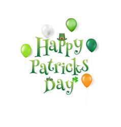 happy patrick day text vector image
