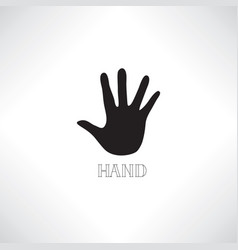 helping hand icon human hand silhouette friend vector image