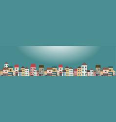 horizontal banner city landscape vector image