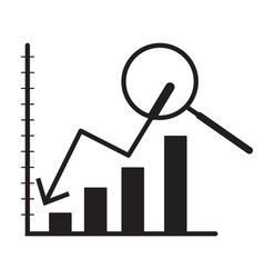 indicator of business on white background vector image