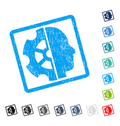 Intellect icon rubber watermark vector