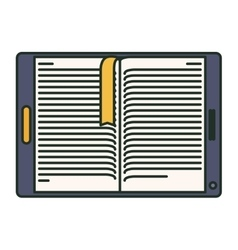 Isolated ebook and technology design vector