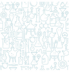 laboratory research equipment seamless pattern vector image