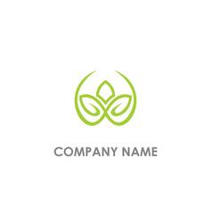 leaf lotus flower logo vector image