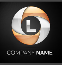 Letter l l logo symbol in the colorful circle on vector