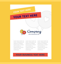 love balloons title page design for company vector image