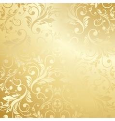Luxury golden floral wallpaper vector