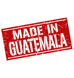 Made in guatemala stamp vector
