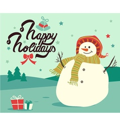 Merry Christmas Happy holidays design vector